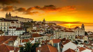 Vista de Lisboa ao entardecer