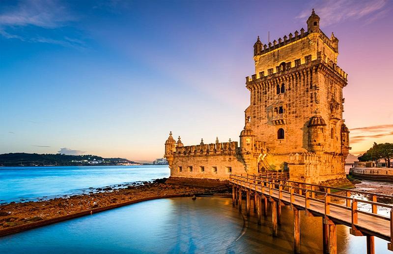 Anoitecer na Torre de Belém