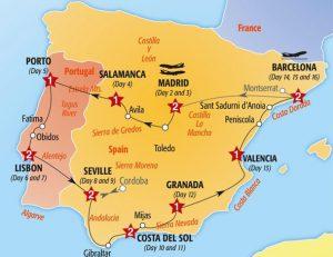 Roteiro de carro por Portugal e Espanha