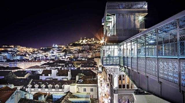 Elevador Santa Justa em Lisboa