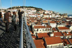 Vista de Lisboa desde o Elevador de Santa Justa