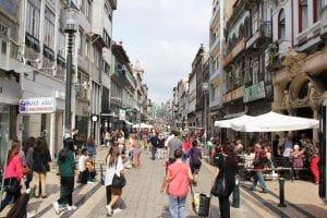 Rua de Santa Catarina no Porto
