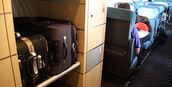 Lugar das bagagens no trem