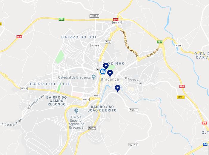 Mapa de Bragança - centro