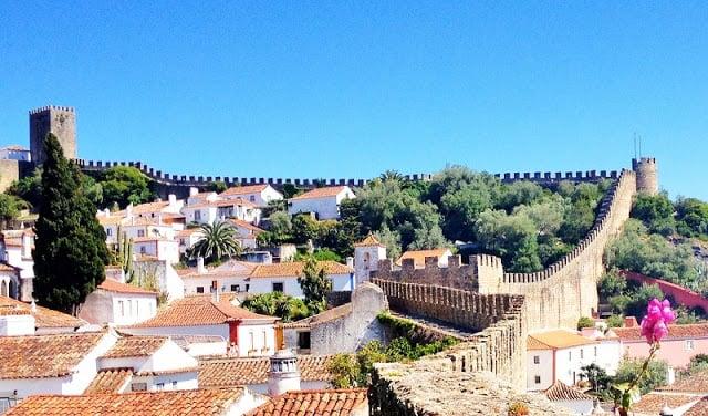 Vila de Óbidos em Portugal