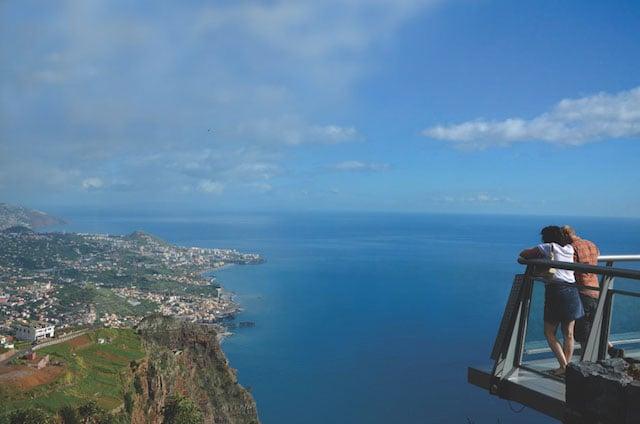 Cabo Girão na Ilha da Madeira em Portugal
