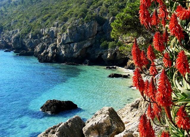 Parque Natural da Arrábida em Portugal