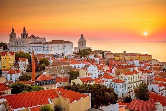 Pôr-do-Sol em Lisboa
