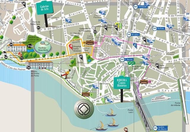 Mapa Turistico Do Porto 2019 Dicas De Lisboa E Portugal