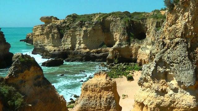 Praia de São Rafael em Albufeira