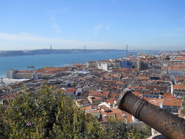 Vista do Castelo de São Jorge em Lisboa