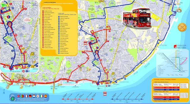 Mapa Lisboa Sightseeing