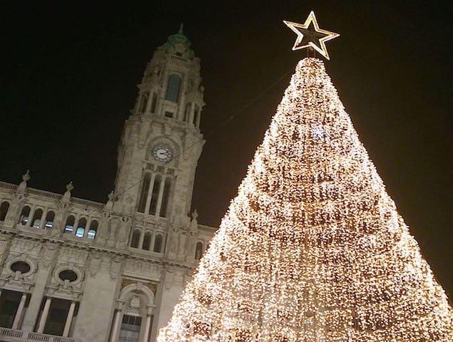 Árvore de Natal no Porto