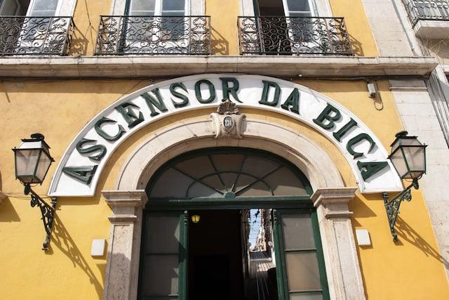 Elevador da Bica em Lisboa