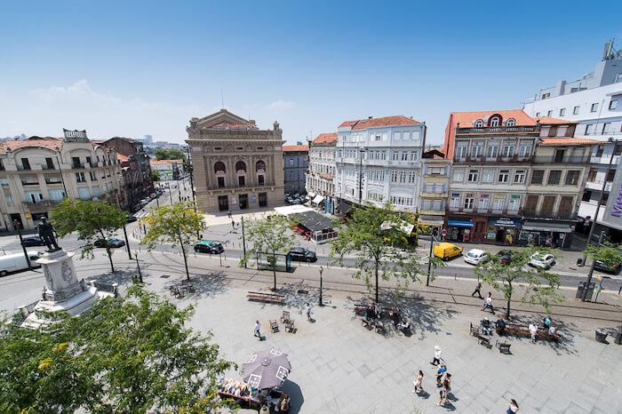Praça da Batalha no Porto