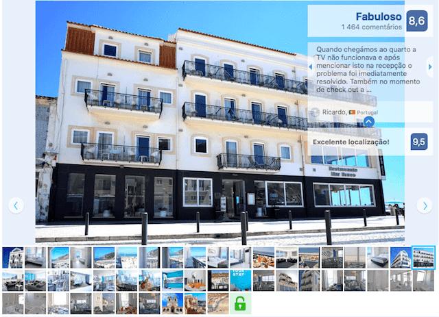 Hotel Mar Bravo em Nazaré