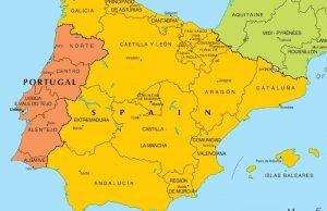 Mapa da Península Ibérica