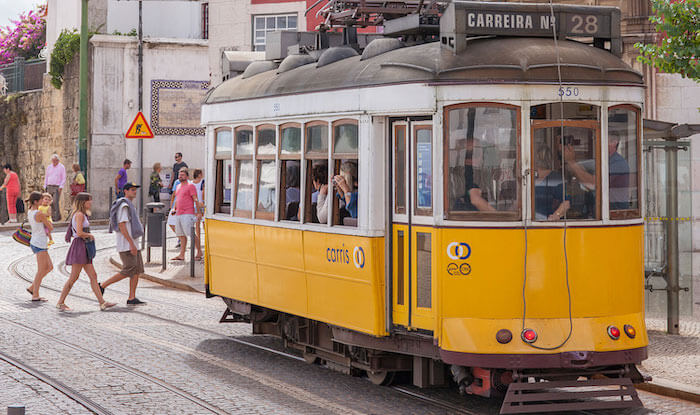 Elétrico 28 em Lisboa
