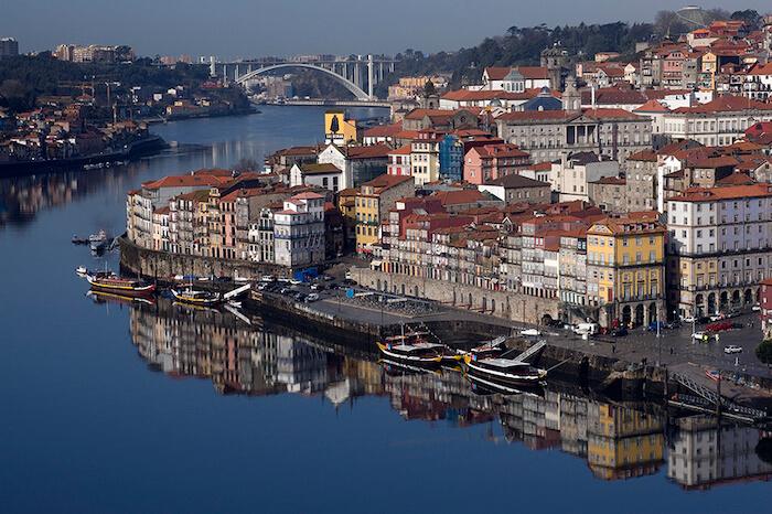 Vista da Ribeira no Porto