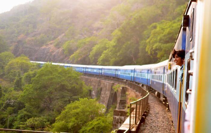 Viagem de trem por Portugal