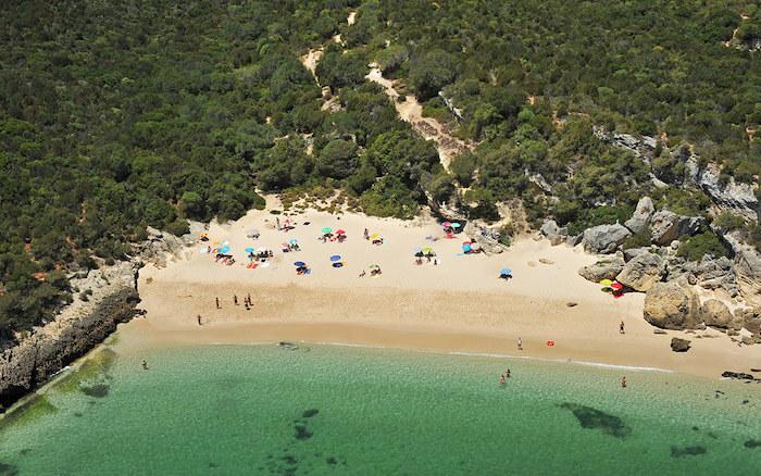 Vista da Praia do Creiro em Setúbal