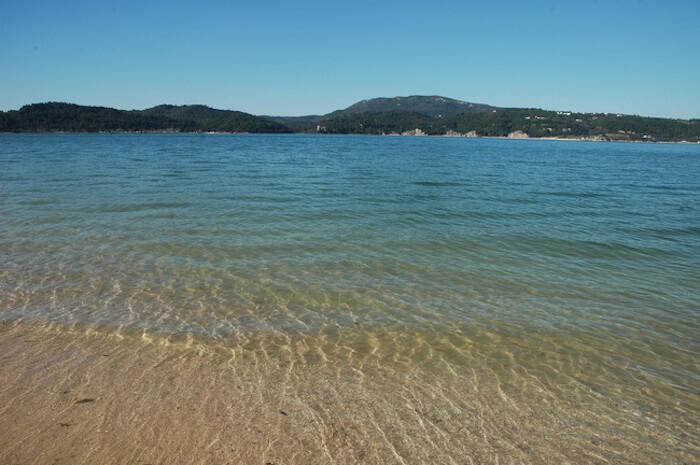Mar da Praia de Tróia em Setúbal