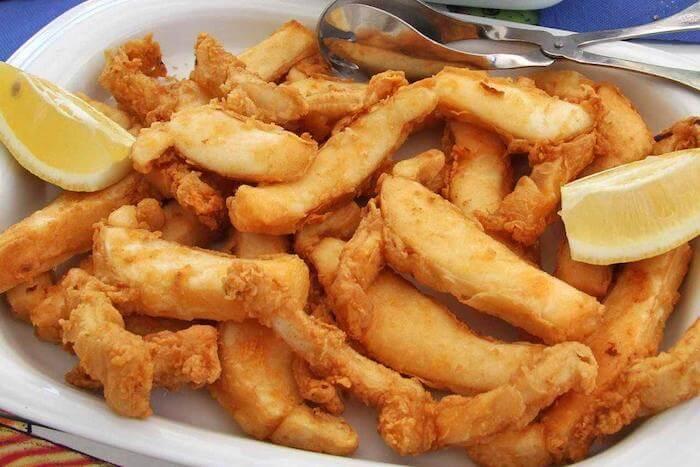 Choco frito em Setúbal