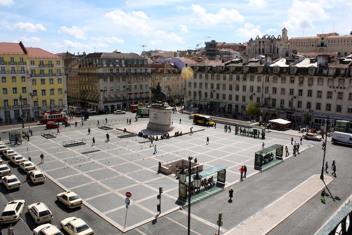 Vista da Praça da Figueira em Lisboa