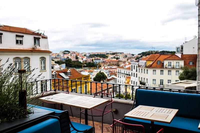 Vista do terraço do restaurante Jamie's Italian em Lisboa