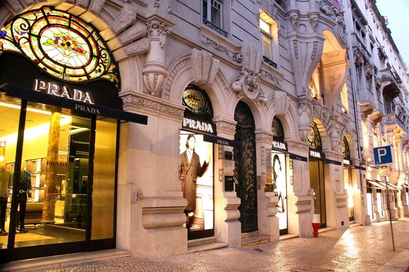 Loja da Prada na Avenida da Liberdade em Lisboa