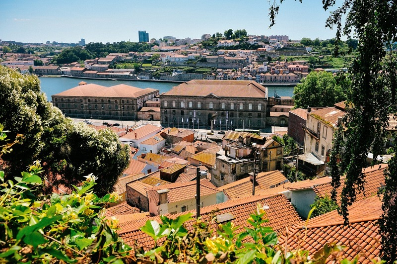 Vista do Jardim das Virtudes no Porto
