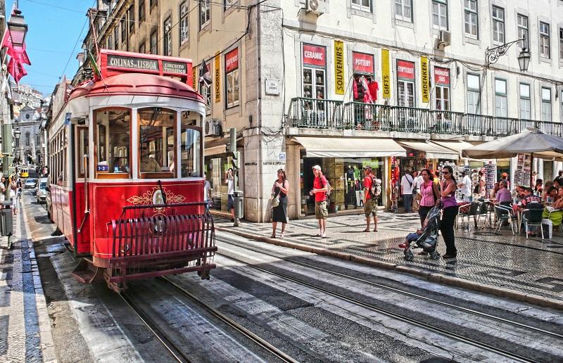 Movimento na cidade de Lisboa