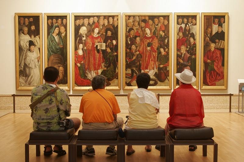Visitantes no Museu de Arte Antiga de Lisboa