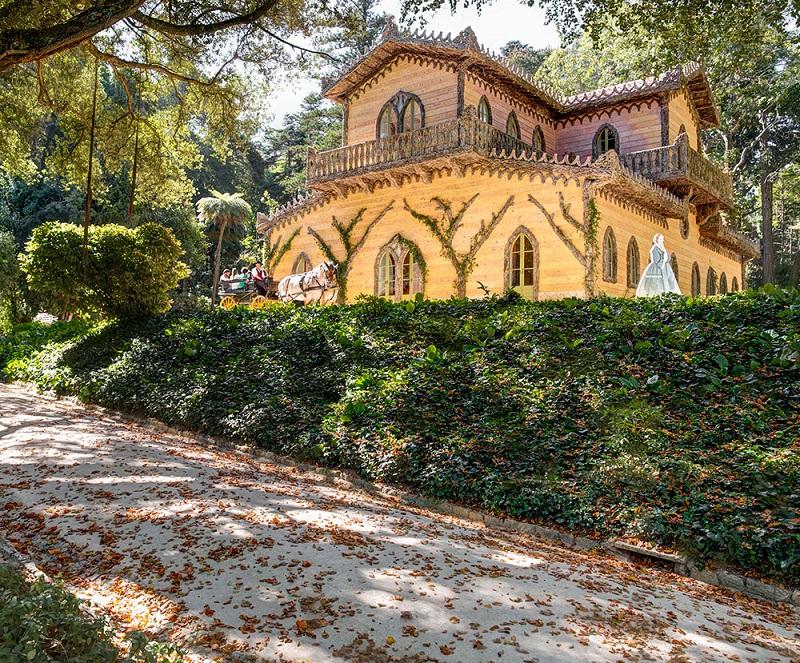 Entrada do Chalet e Jardim da Condessa D'Edla em Sintra