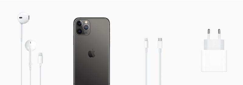 iPhone 11 e acessórios que vêm na caixa