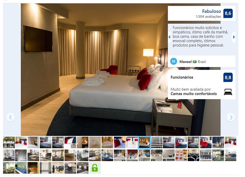 Quarto do hotel Meliã em Setúbal