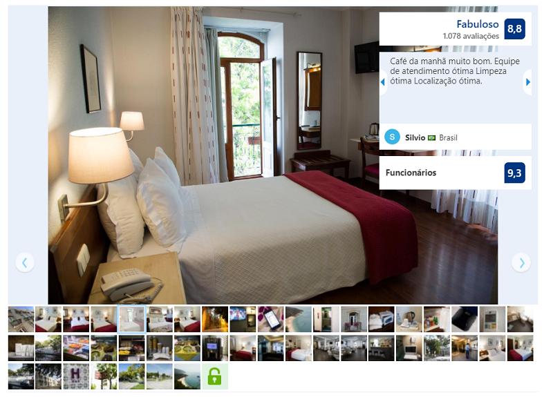 Quarto do hotel Solaris em Setúbal