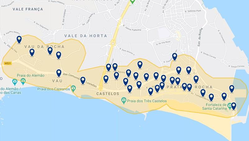 Hotéis na região de praia de Portimão