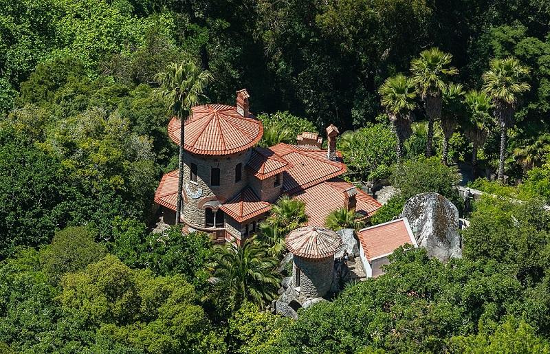 Vila Sassetti em Sintra vista de cima