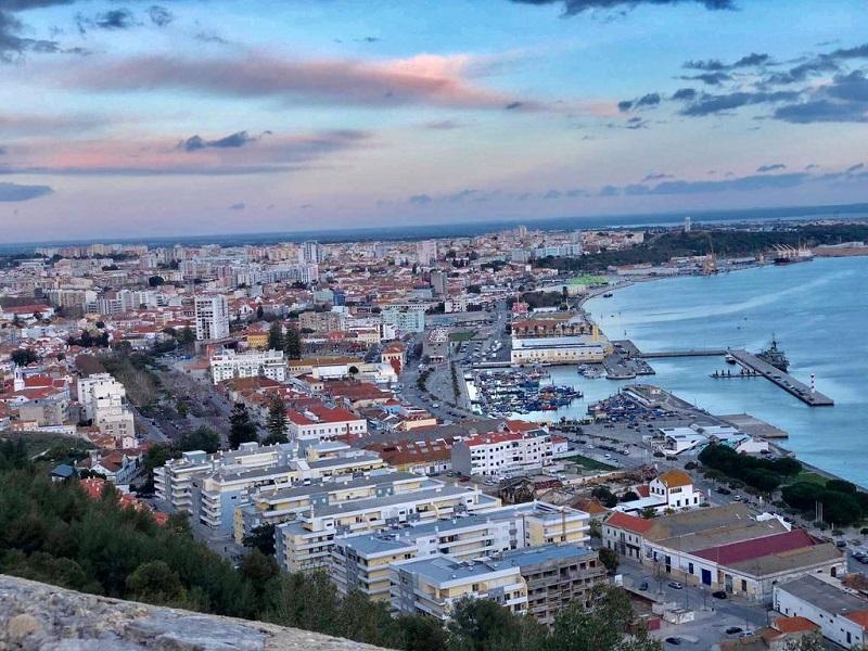 Vista da cidade em Setúbal