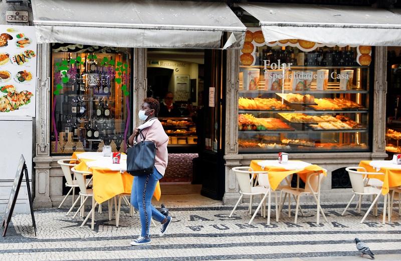 Restaurante durante coronavírus em Lisboa